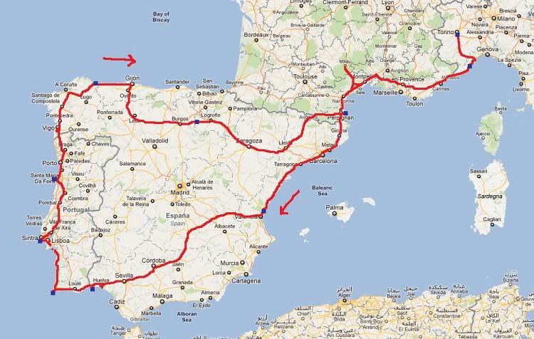Portogallo Spagna Cartina.Cartina Francia Spagna E Portogallo